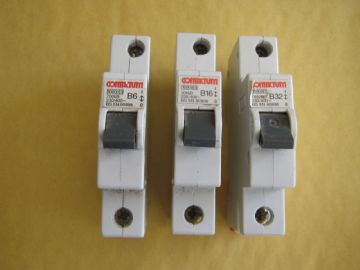 CONTACTUM B6 6 AMP 7006B (SERIES 70) 10KA SINGLE POLE MCB CIRCUIT BREAKER.